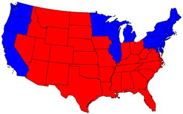 Red Blue States
